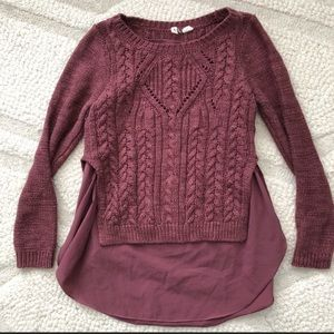 Beautiful Anthropology knit sweater
